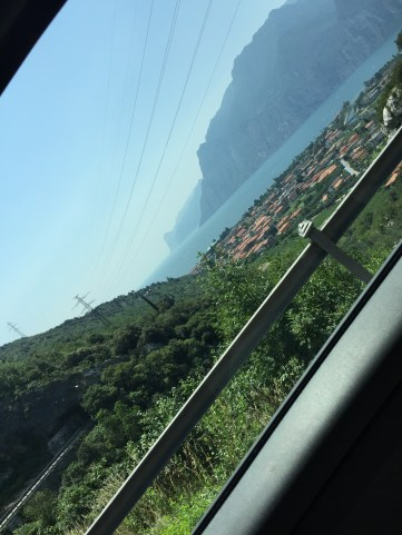 My first view of Lake Garda!
