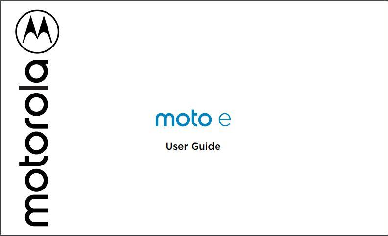 StraightTalk Moto e XT2052DL User Manual / Guide