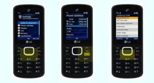 Tracfone LG 329G screenshot