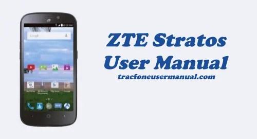 Tracfone ZTE Stratos Z819L User Manual Guide