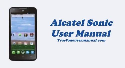 Tracfone Alcatel Sonic A851L User Manual Guide