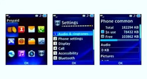 TracFone LG 442BG screenshot