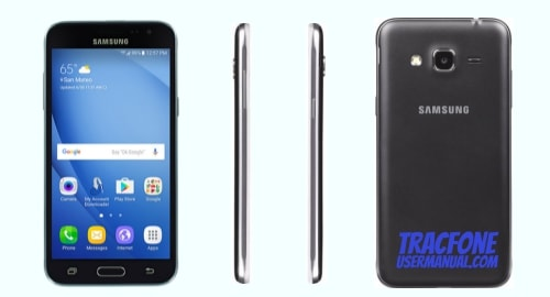 TracFone Samsung Galaxy Sky S320VL front side back