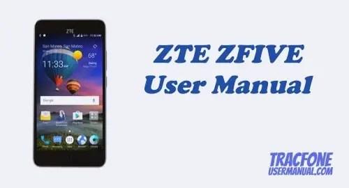 TracFone ZTE ZFIVE Z861BL / Z862VL User Manual