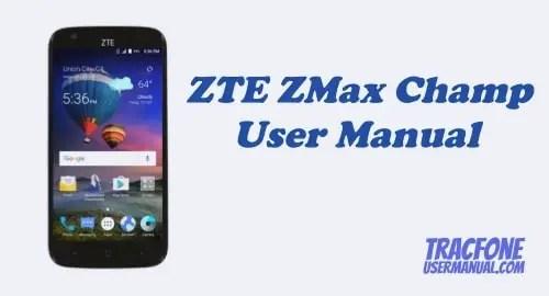 TracFone ZTE ZMAX Champ Z917VL User Manual