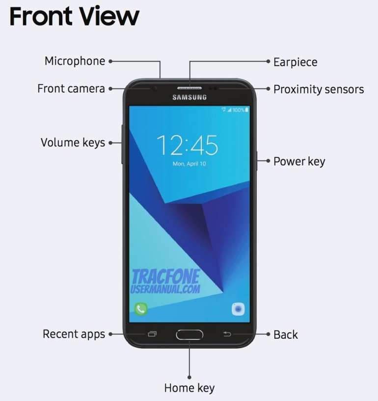 Galaxy J7 Sky Pro Front View