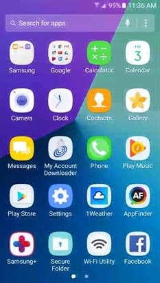 Galaxy Luna Pro App Drawer