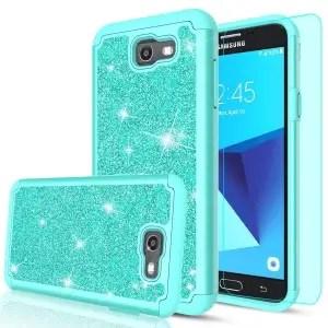 Samsung Galaxy J7 Sky Pro Glitter Hybrid Case by LeYi