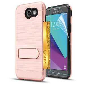Samsung Galaxy J3 Prime Kickstand TPU Case by AnoKe