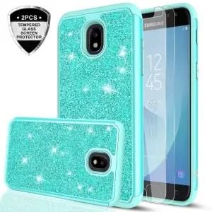 Galaxy J3 Orbit Glitter Protective Case by LeYi