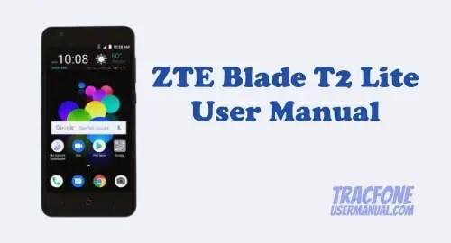 ZTE Blade T2 Lite User Manual
