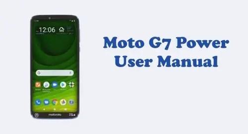 Motorola Moto G7 Power User Manual