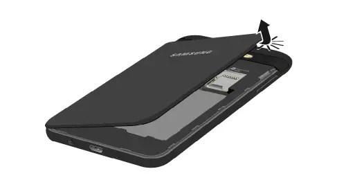 Removing the Back Cover Samsung Galaxy J3 Luna Pro
