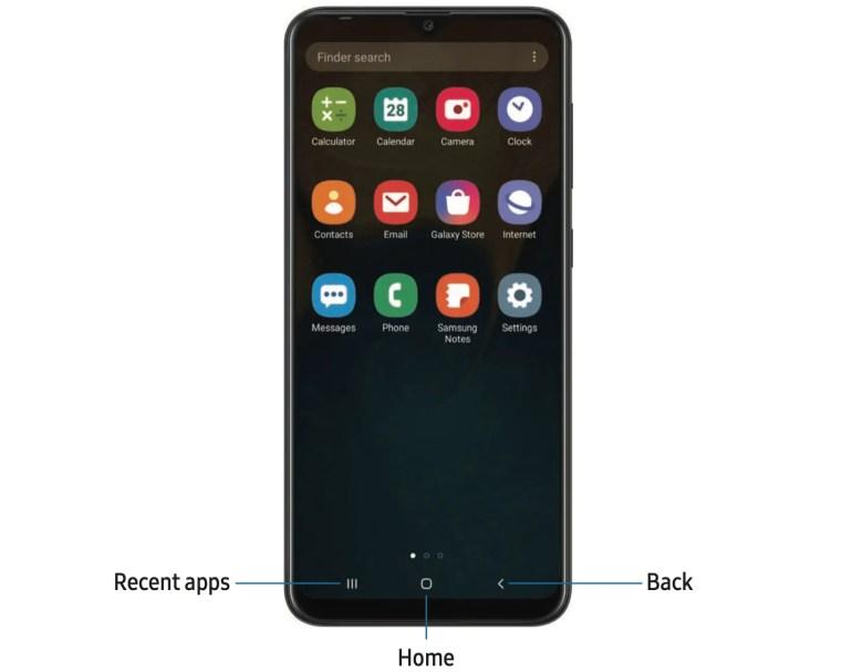 Samsung Galaxy A10e Apps Screen