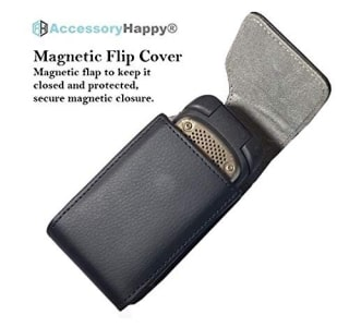 Alcatel MyFlip Vertical Leather Belt Case by AccessoryHappy