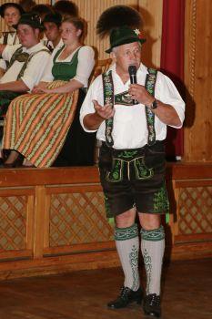 Jakob Kohlhauf bei der Trachtenpräsentation 2017