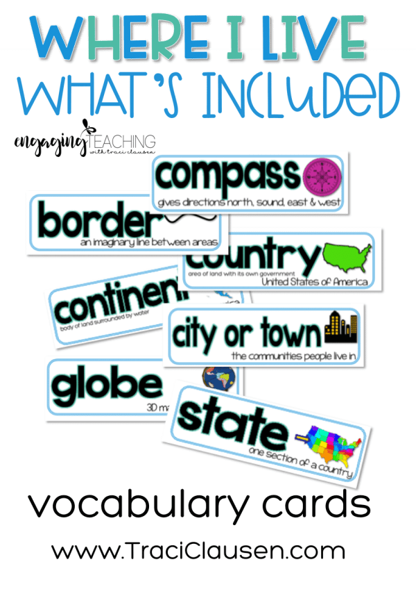 Where I Live Vocabulary
