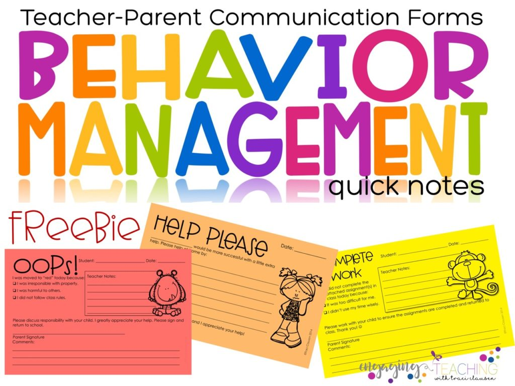 Quick Notes to Communicate with Parents About Student Behavior