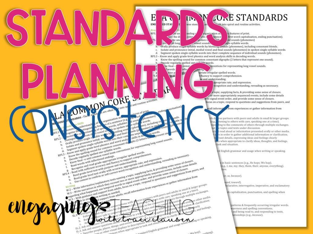 Standards Planning Consistency