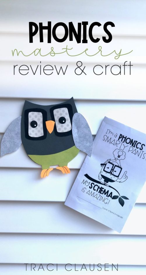 owl craft and phonics mastery book