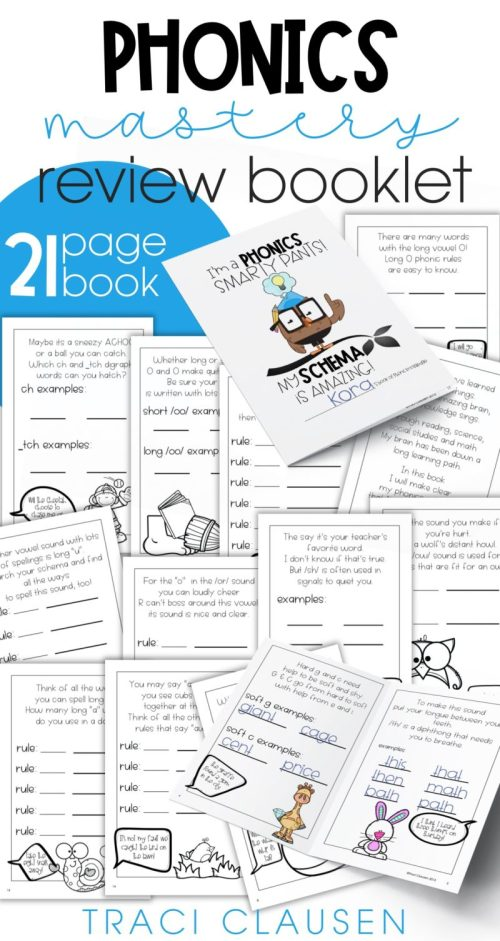 pages from phonics mastery book