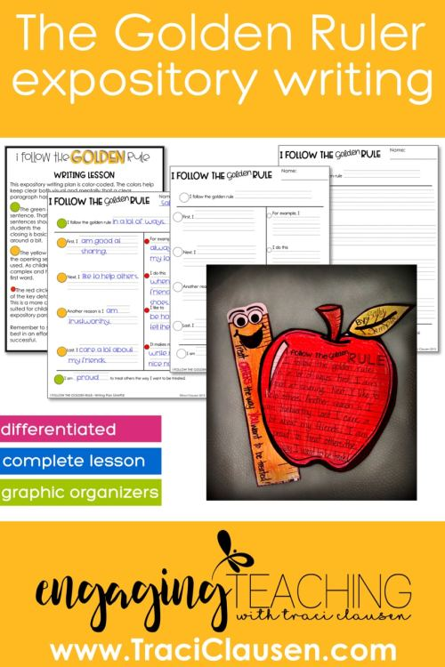 The Golden Ruler Differentiated writing lesson