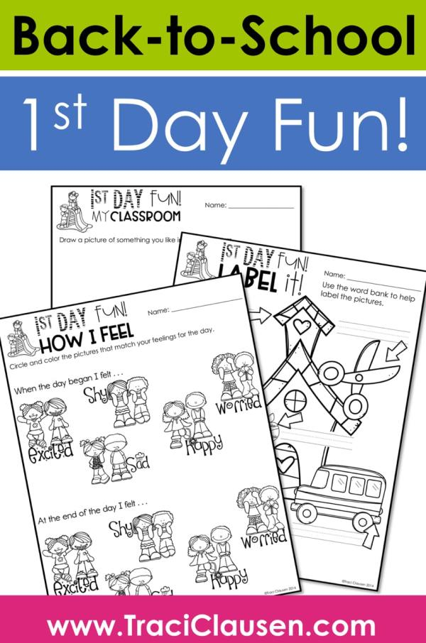 Back to School 1st Day Activities
