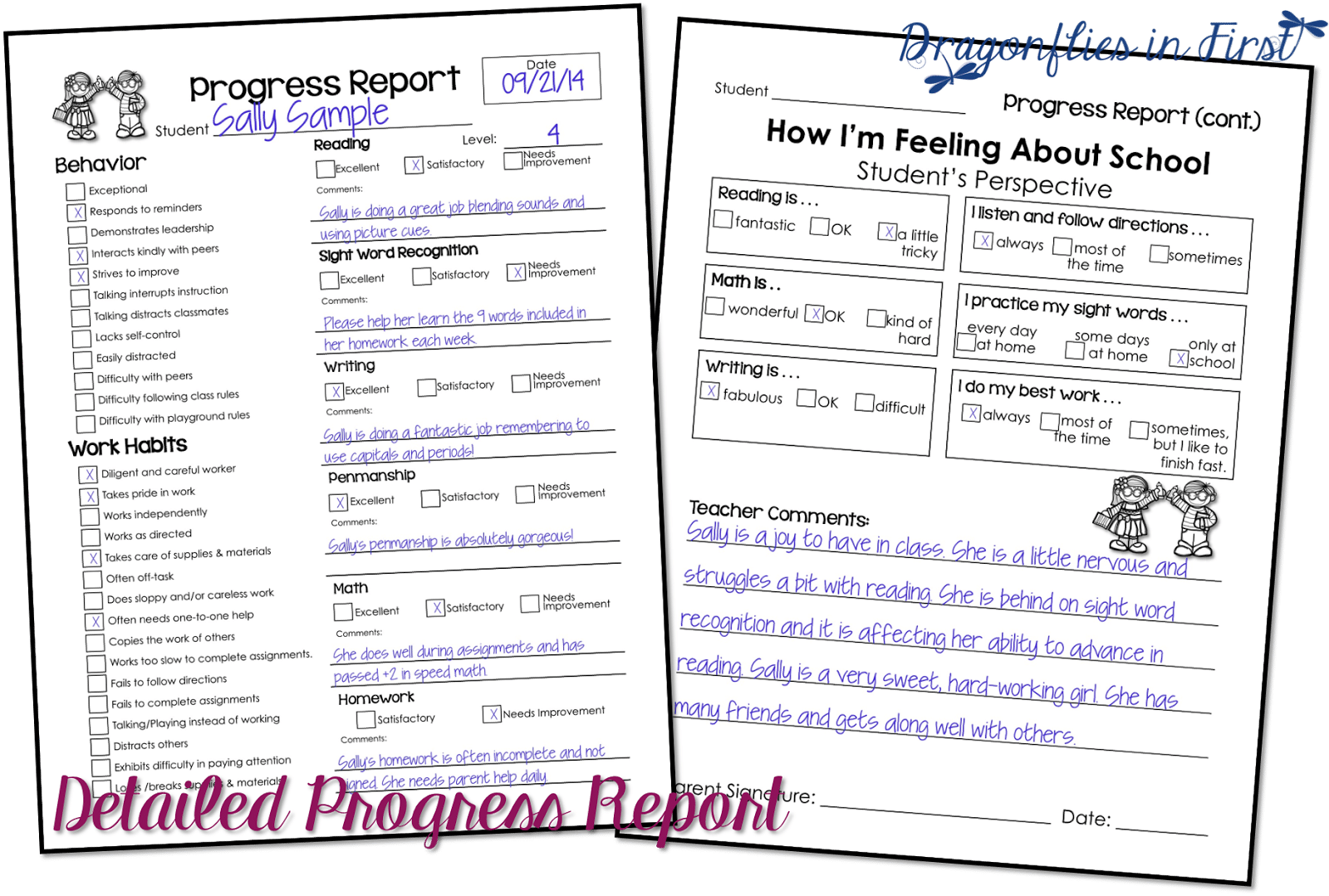 Progress Reports – Quick and Easy and FREE!