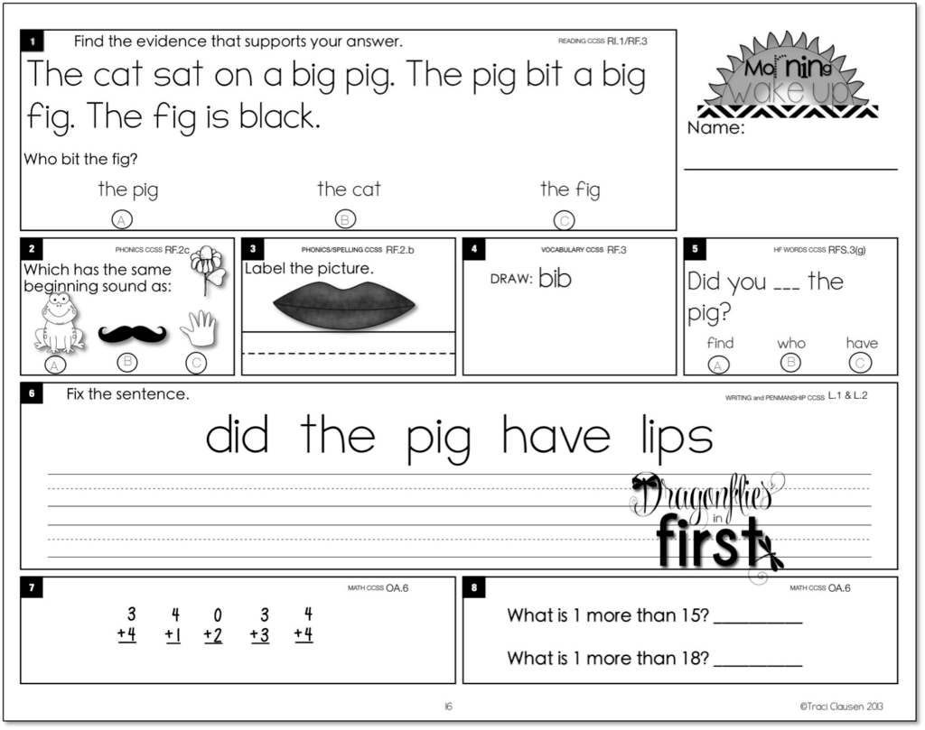 Worksheet Work For 1st Graders meaningful and engaging morning work for k 2 teaching wake up traci clausen