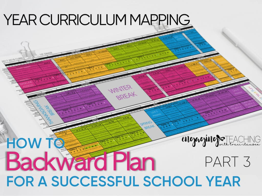 Backwards Planning for School Year Success Part 3