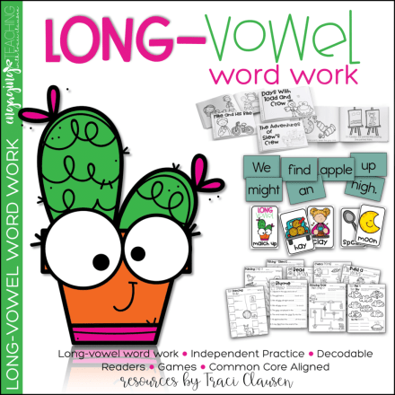 Long Vowel Word Work Resource Cover