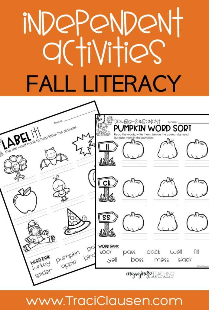 fall literacy activities