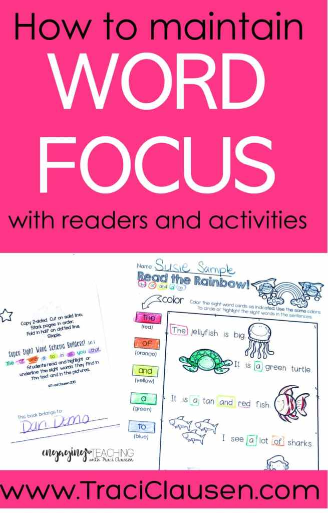 Sight Word Hero Sheets and books