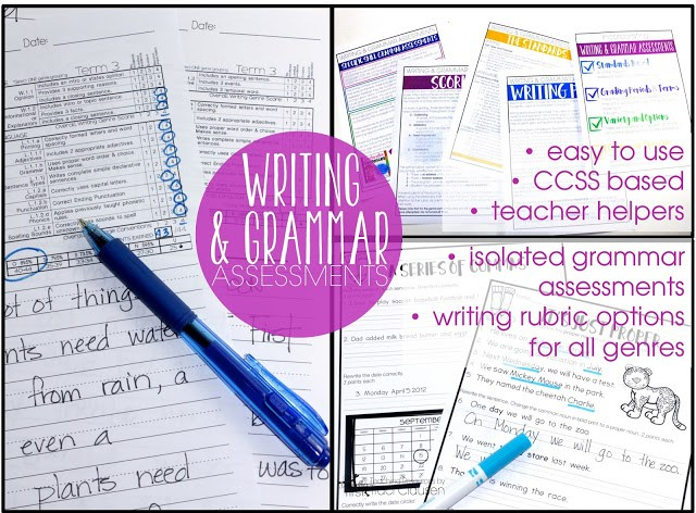 Writing and Grammar Assessments SIMPLIFIED
