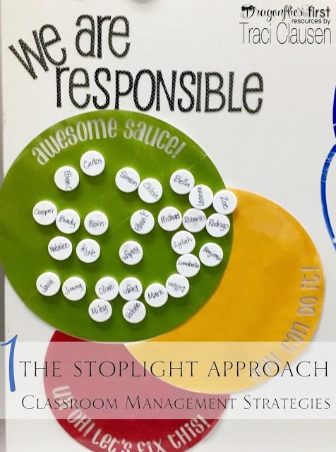 Stoplight classroom management - engagingteaching.com