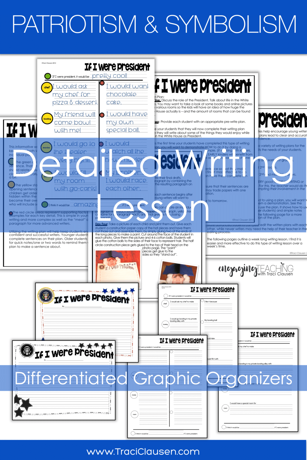 Writing Lesson instructions and organizers