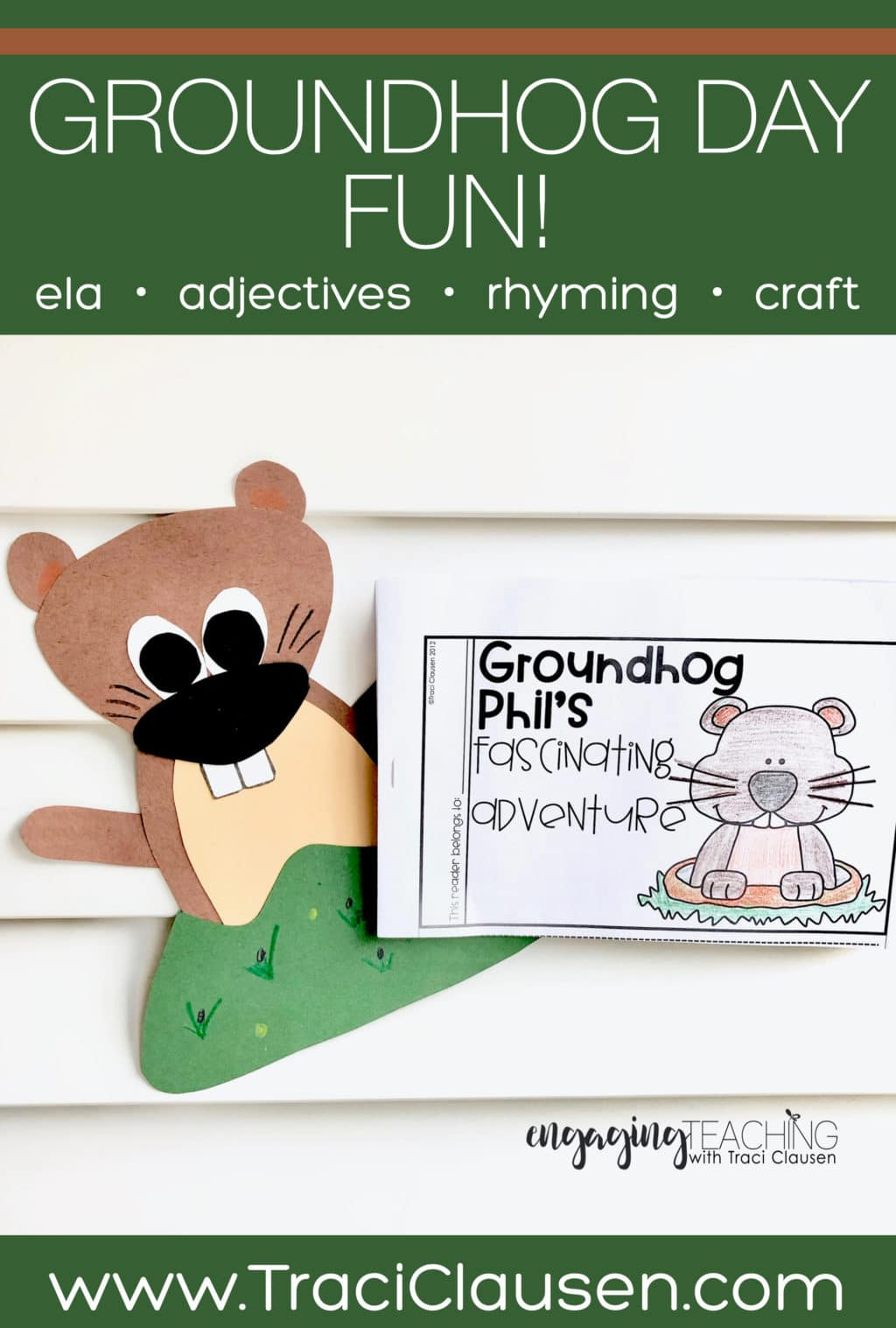 groundhog phil craft and booklet