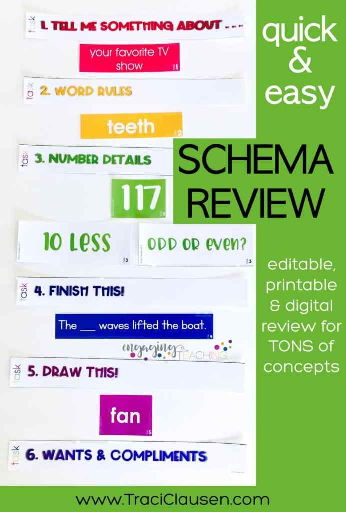 Schema Review Color Words Cards