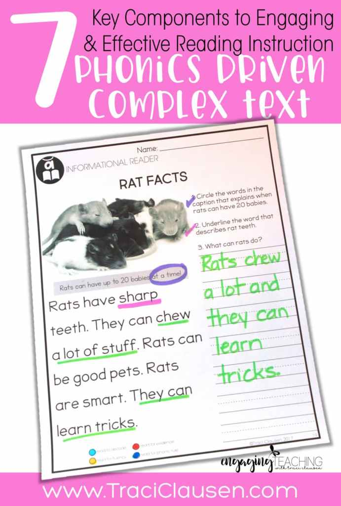 Complex text with phonics