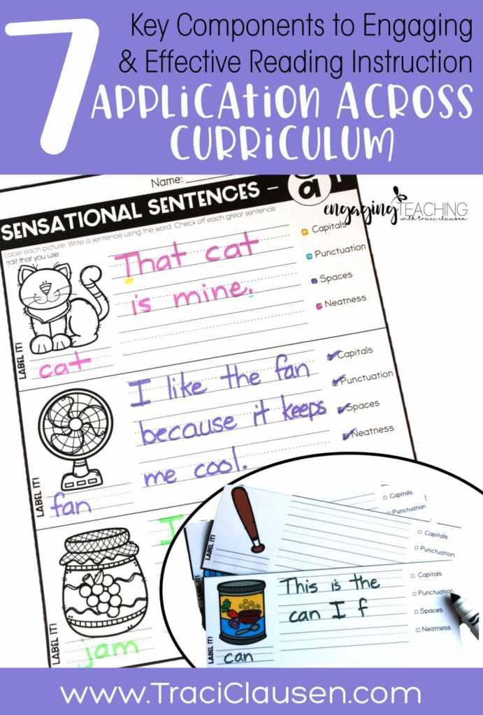 Sensational Sentences Phonics Across Curriculum