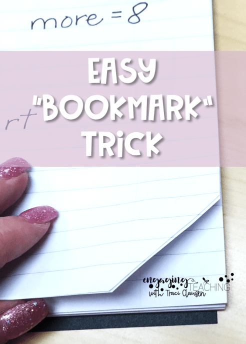 No Fuss Math Bookmark Trick