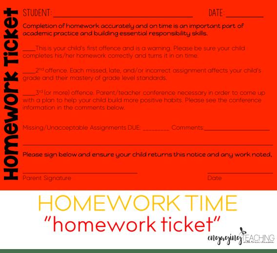 Homework Ticket