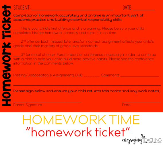 Homework Ticket