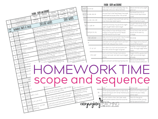 Homework Time Scope & Sequnce