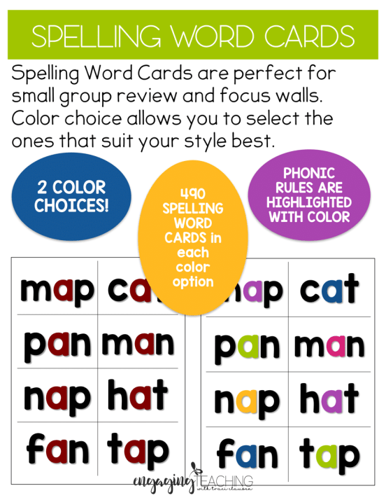 Spelling/Phonics cards - 490 words!!!