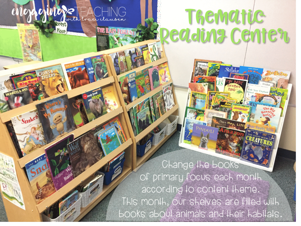 Thematic reading center. Engaging and Rich Social Studies and Science Content. TraciClausen.com