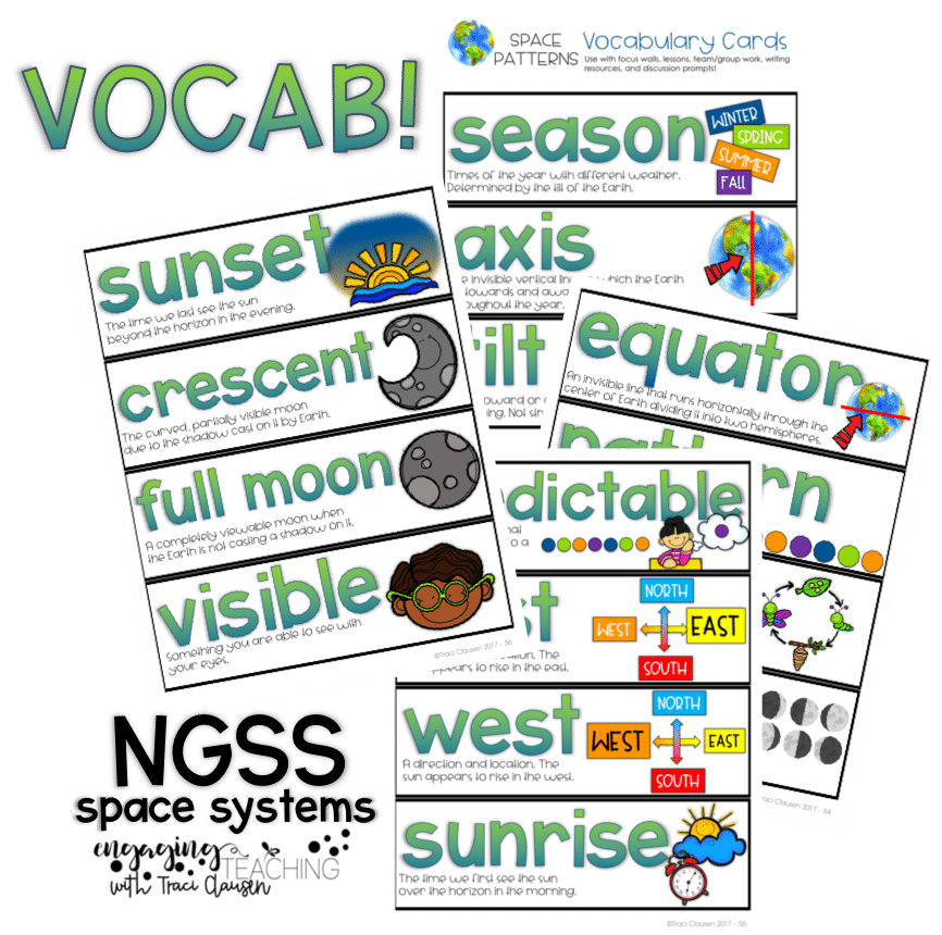 Space Systems Vocabulary - NGSS - Engagingteaching.com