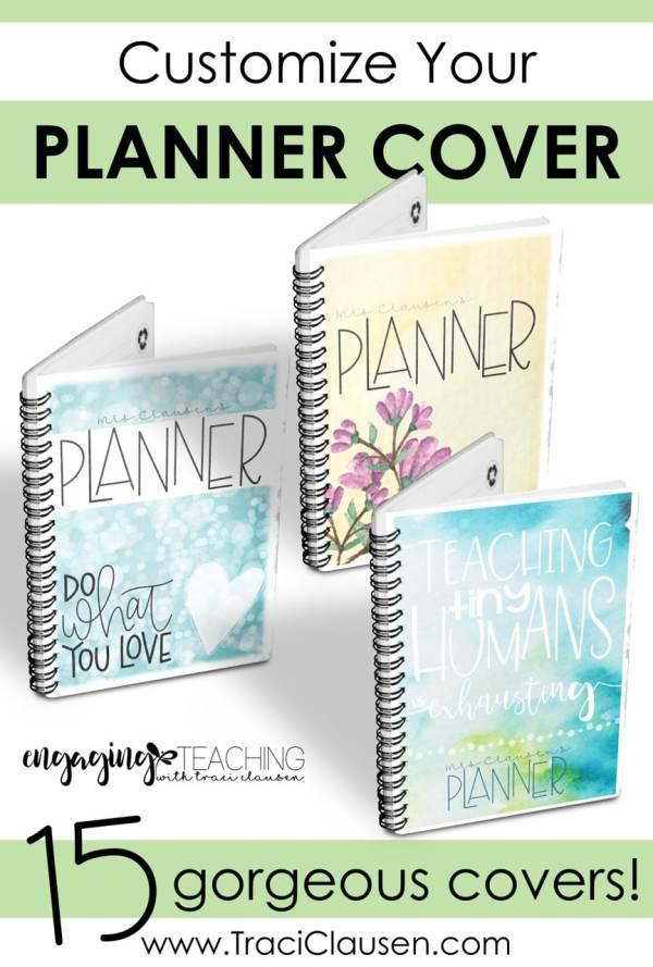 Custom Teacher Planner Covers