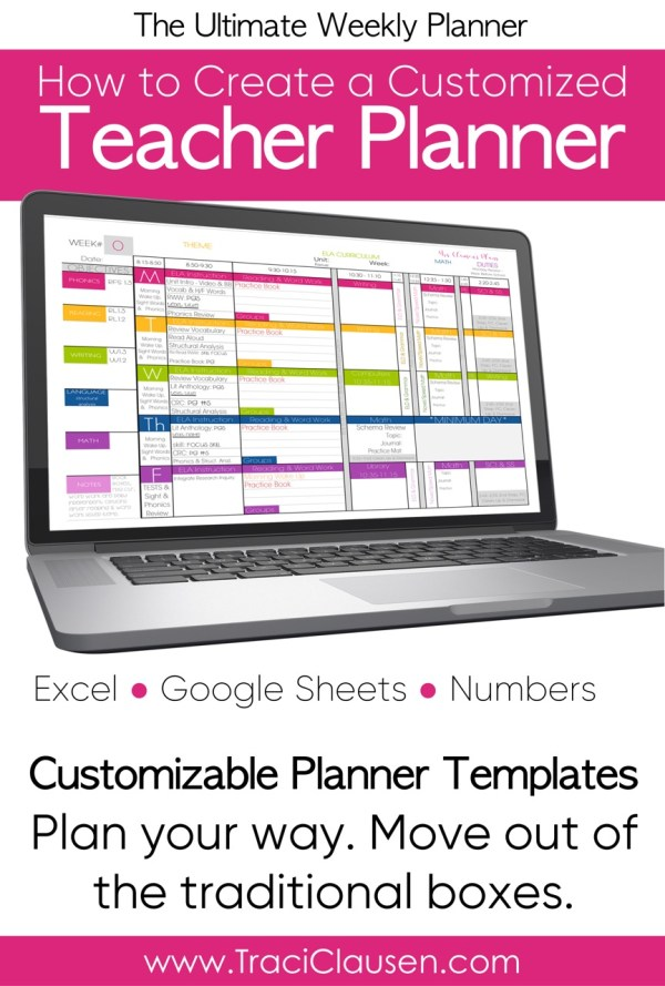 teacher planner excel google and numbers