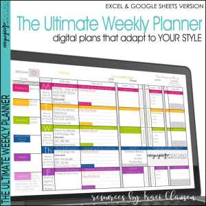 Excel & Google Sheets Weekly Planner